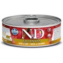 N&D CAT QUINOA SKIN & COAT 80g